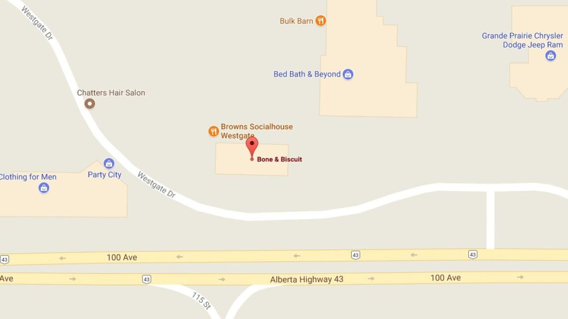 bone-and-biscuit-grande-prairie-map