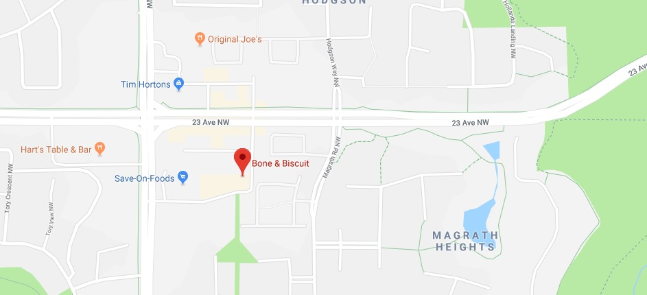 bone-and-biscuit-edmonton-magrath-google-map