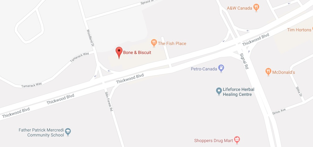 Bone & Biscuit in Fort McMurray (Thickwood Ave)-google-map