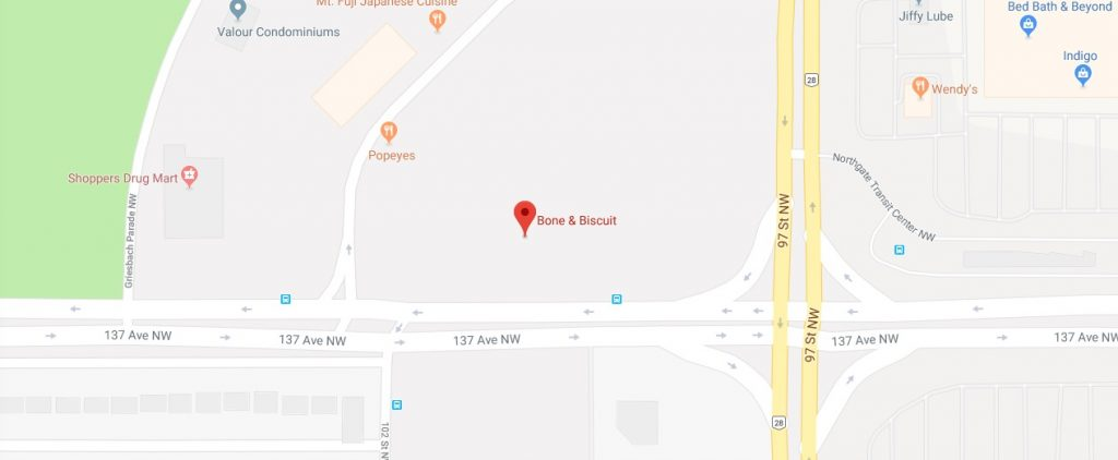 bone-and-biscuit-edmonton-map