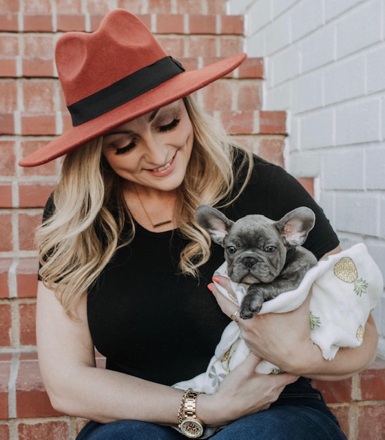 Jamie with her French Bulldog, Nalu